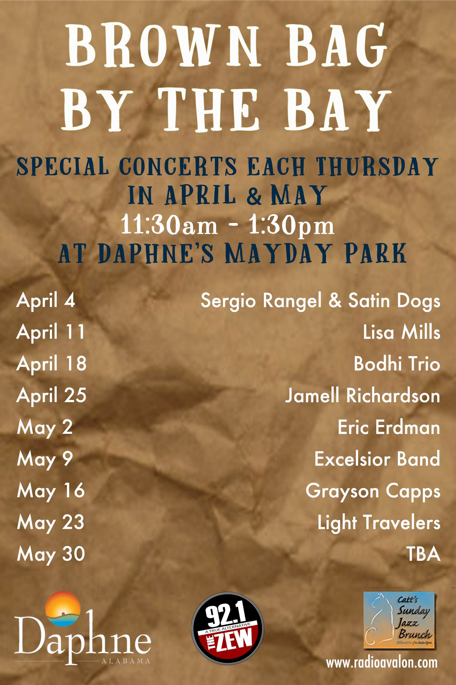 Brown Bag Daphne Spring 2019 poster