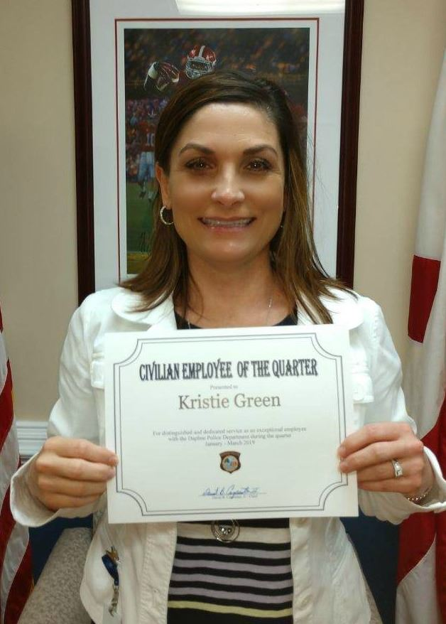 Kristie Green - Civilian Employee of the 1st Quarter of 2019