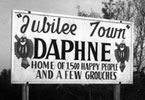 Jubilee Town Daphne Welcome Sign